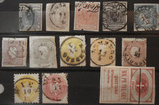 Austria - Selection of classic with i.a. Yvert 22 and newspaper stamp 6