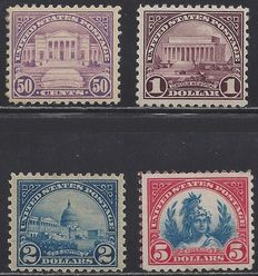 United States 1922/34 - Sundries - Michel 282/285A