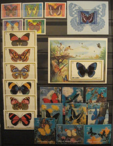 Butterflies - Small topical collection in stockbook