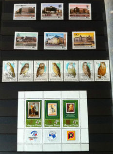 Hungary - Collection in stock books with stamps and FDCs