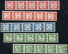 FRG and Berlin - Selection of coil stamps with i.a. Heuss lumogen