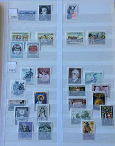 Austria 1955/1986 - Collection on stock leaves