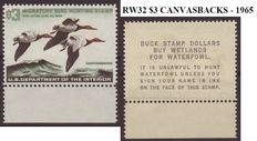 """United States 1965/1968 - Selection of four """"Duckstamps"""""""