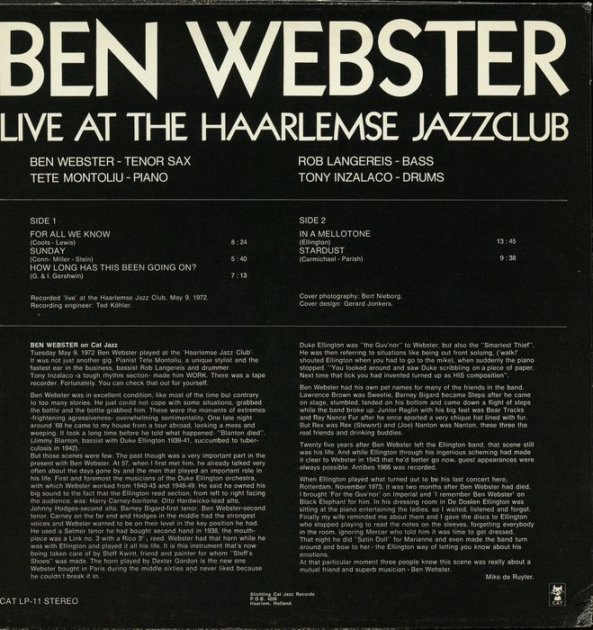 The Ben Webster Quintet Soulville
