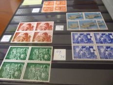Switzerland - Batch with i.a. 30 miniature sheets of 4 MNH in stock book