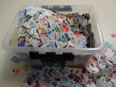 World and the Netherlands - 9 kg stamps predominantly on fragment