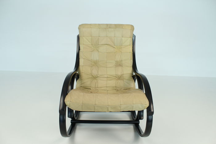 strassle rocking chair with leather patchwork upholstery catawiki. Black Bedroom Furniture Sets. Home Design Ideas