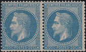 Check out our France 1868 - Napoleon III Laurel wreath - pair of 20 c blue