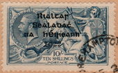Check out our Ireland 1922 - Sea horse - Michel 11 type II on cover fragment