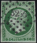 Check out our France 1854 - Napoleon III Empire - Yvert 12 dark green on green