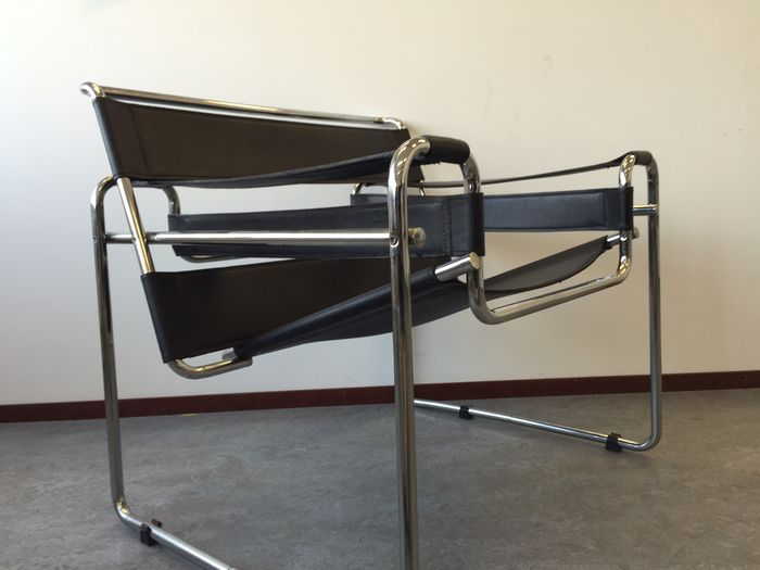 Marcel breuer wassily design chair replica catawiki - Wassily chair replica ...
