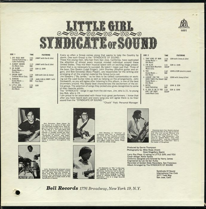 Syndicate Of Sound Little Girl