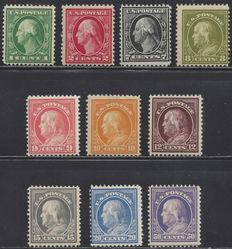 United States 1912 - Presidents - Michel 189/99A without 198