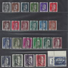 Austria 1945 - Overprint on German Reich stamps - Michel 674/692 and 693/696