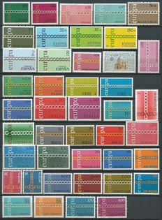 United Europe 1971/1985 - Virtually complete collection without souvenir sheets