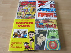 The penguin book of comics + The great cartoon stars + Backstage at the strips + Art in time + Comic books 101 - 2x hc met stofomslag + 3x sc