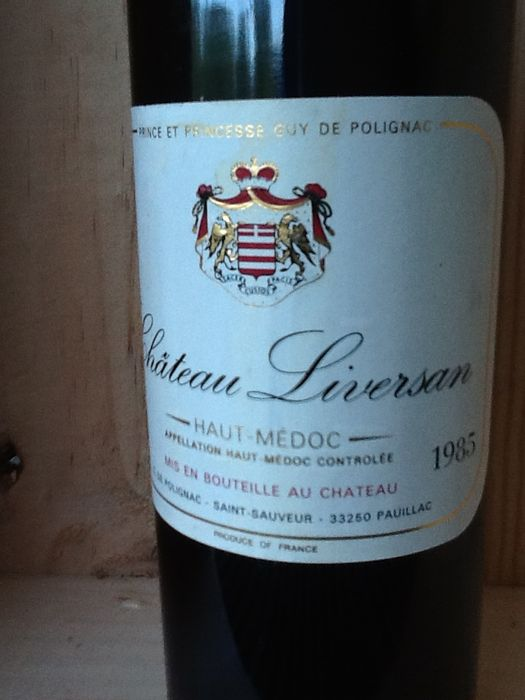 1985 chateau liversan haut medoc 6 flessen catawiki for Chateau liversan