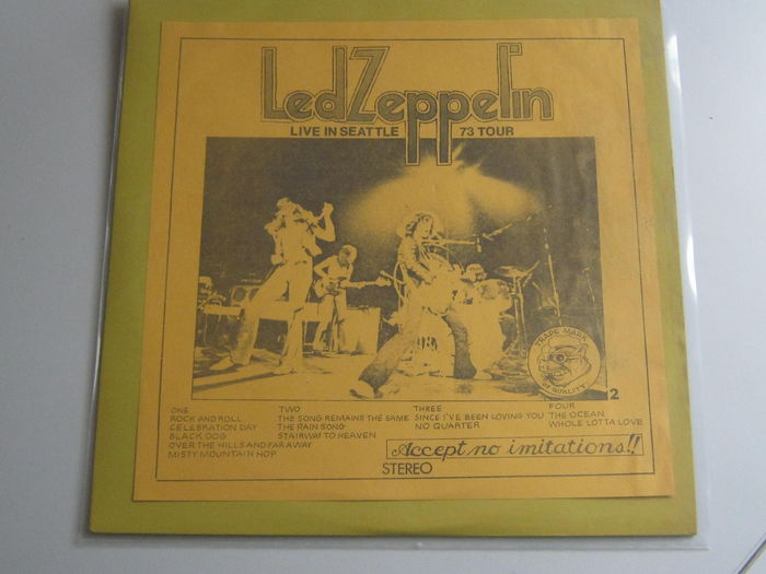 Led Zeppelin Live In Seattle 73 Tour