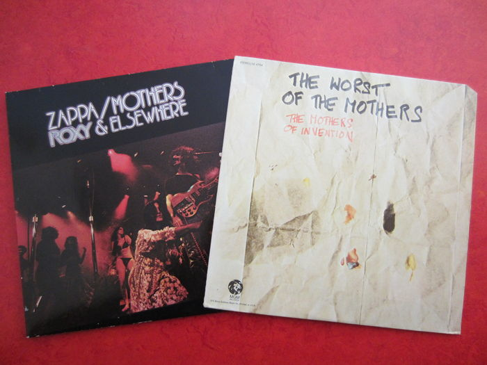 Mothers Of Invention Frank Zappa Lot Of 2 Albums Lp