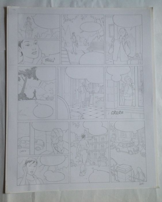 Very handsome large original page, drawn by the talented Herval. This is page 26, Seller: Catawiki, Price $60.00