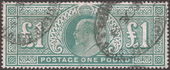 Check out our Great Britain 1902 - King Edward VII, ₤1 - Stanley Gibbons 266