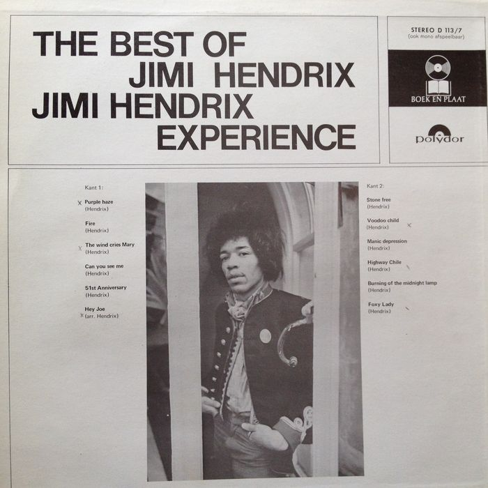 "Experience Hendrix The Best Of Jimi Hendrix Jimi Hendrix: Jimi Hendrix LP ""The Best Of Jimi Hendrix (Experience"