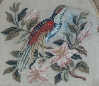needlepoint wanddecoratie ca 1850 catawiki