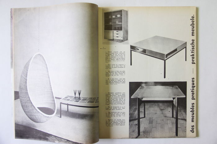 design 8 magazines meubles et d cors journal d 39 ameublement 1959 1960 catawiki. Black Bedroom Furniture Sets. Home Design Ideas
