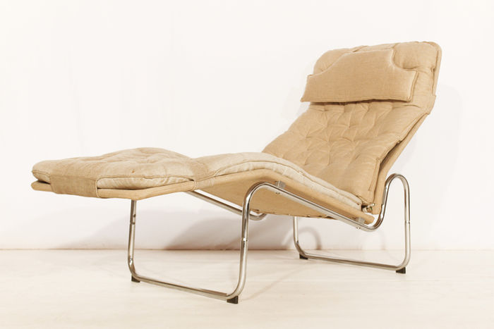 Canvas lounge chair in bauhaus stijl - Lounge stijl ...