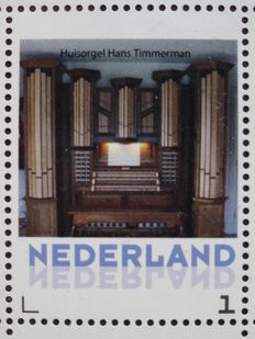 Music - Organ - Topical collection with stamps and postal items