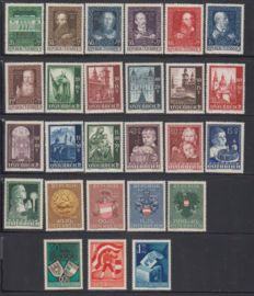 Austria 1948/1950 - Various issues between Michel 878 and 954