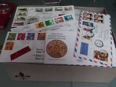 World - Batch of approx. 600 postal items and postal stationaries + cards