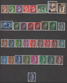 Austria 1945 - Hitler overprints - Various issues