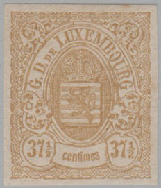 Luxembourg 1875 - State coat of arms - Michel 36 I U