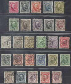 Luxembourg 1891/1908 - Official stamps - Michel 47/56 and 76/92