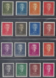 Netherlands 1949 - Queen Juliana type 'En Face' - NVPH 518/533