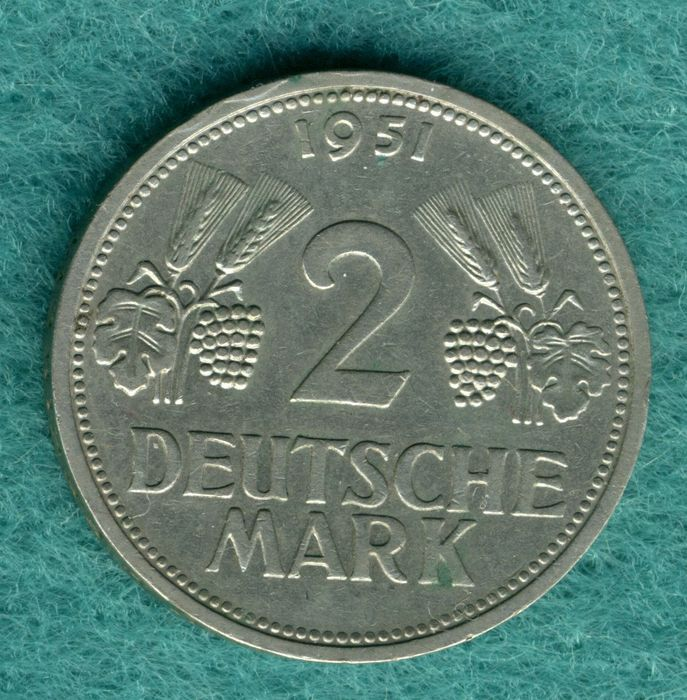 2 deutsche mark 1951
