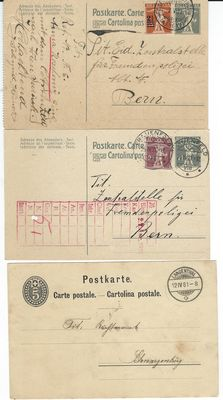 World - Collection of 73 postal items and postal stationaries from 1881 onward
