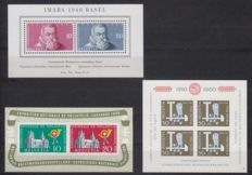 Switzerland 1848/1960 - Various issues - Michel miniature sheet 13, 15 and 17