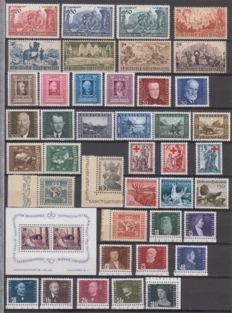 Liechtenstein 1939/1948 - Small collection of 13 diffrerent issues