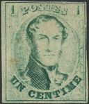 Check out our Belgum 1861 - Leopold I, TootlessMedaillon 1 centimen - OBP 9a