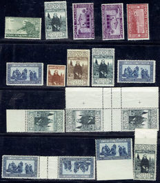 Italy 1909/1930 - Small specialized collection with varieties