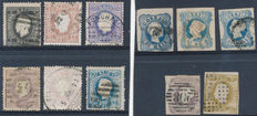 Portugal 1853/1870 - Selection of 11 classic stamps