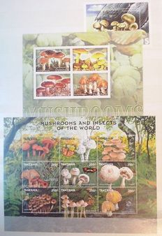 Mushrooms 1990/2008 - Extensive topical collection in 2 thick stock books