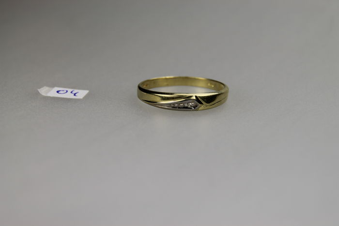 14 karat gold ring set with diamond Catawiki