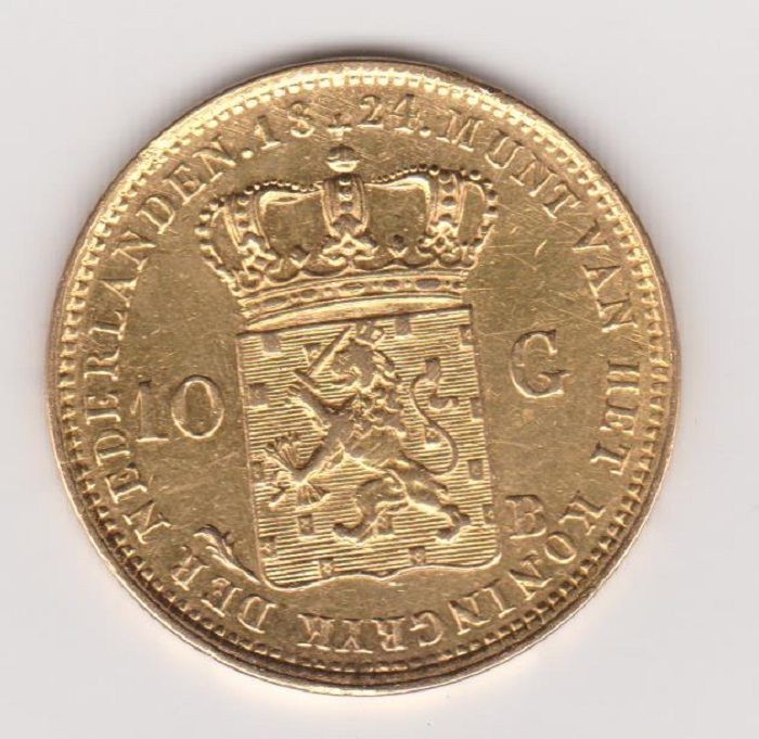 Nederland 10 gulden 1824 b willem i goud for Gulden interieur b v