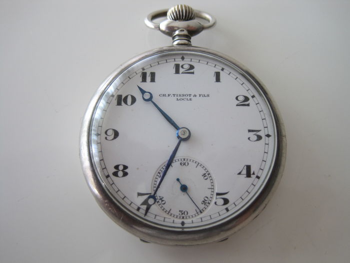4 working pocket watches 3 silver 1 tissot 2 without