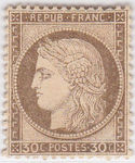 Check out our France - 1872 - Cérès IIIrd Republic 30c brown Yvert n° 56
