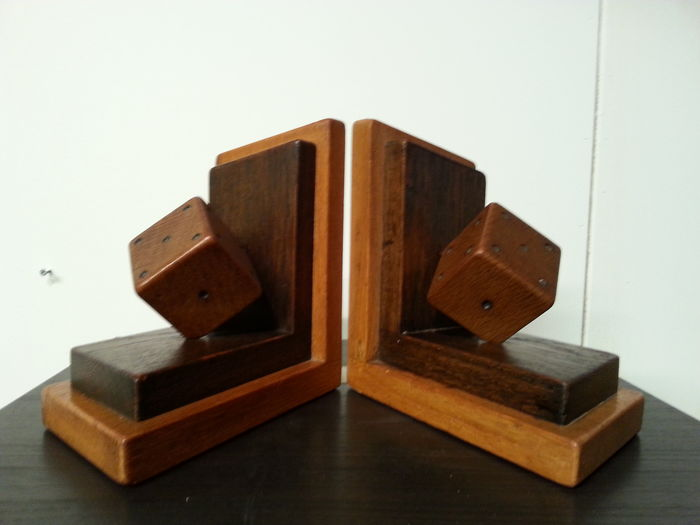 Set art deco bookends with dice catawiki for Deco 90 fut 18