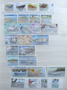 Great Britain, Commonwealth, Channel Islands, Isle of Man - Batch in 7 stock books